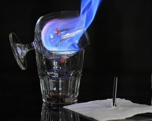 Sambuca-flambè