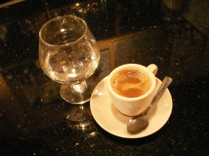 sambuca e caffè